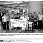 Hosted TAAI Goa chapter fam trip to Bali, 30 August – 3 September 2015