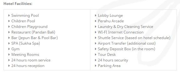 Risata_hotel facilities