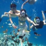 Snorkling at Toya Pakeh Point and visit hidden beaches in Nusa Penida Island